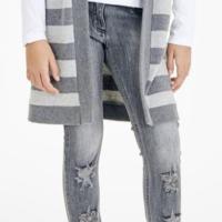 Elsy jeans strappi colore grigio per ragazza