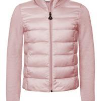 Moncler cardigan piuma colore rosa per ragazza