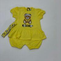 Moschino pagliaccetto margh+ fasc colore giallo per neonato